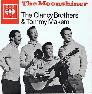 The Clancy Brothers & Tommy Makem 1961 [1964 Issue] Uk Ep - The Moonshiner