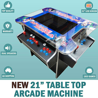 "NEW 21"" Arcade Machine Tabletop Upright Cocktail Video Game With 1033 Games"