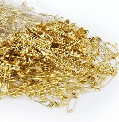100 Pcs Pins safety pins of nurse in Metal 2cm . gold Plated