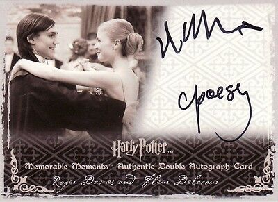 Harry Potter Memorable Moments 2 Clemence Poesy & Roger Lloyd Hughes Auto Card