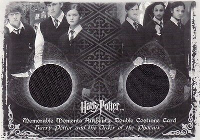 Harry Potter Memorable Moments 2 Ron & Ginny Weasley C11 Dual Costume Card