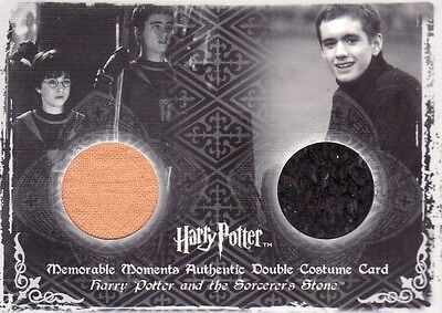 Harry Potter Memorable Moments 2 Harry Potter & Oliver Wood C7 Dual Costume Card