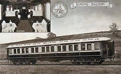 London and North Western Railway Company postcard of Dining Saloon