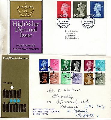 8 decimal definitive British first day covers