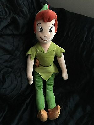 """Peter Pan Disney Store Exclusive Soft Toy Plush Approx 20"""""""