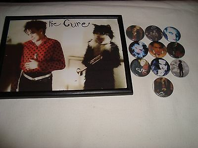 The Cure   Job Lot 10 x   Badges + Small Framed Photo