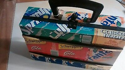 RECYCLED Drinks can case/tin box. Pepsi, Fanta, Tango Up-Cycled. Vintage. Retro.