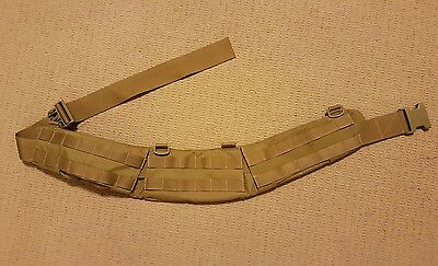 TBAS Tan Belt Pad and Belt Molle Sord Platatac
