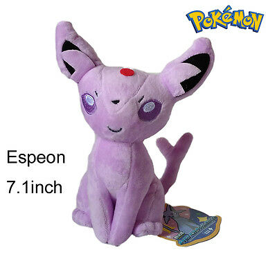 "Pokemon GO 7"" EEVEE Collection ESPEON Rare Plush Soft Toy Doll Stuffed Animal 5A"