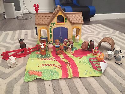 Happyland Farm Set With Lots Of Figures And Play May