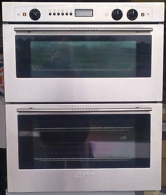 Neff stainless steel built in double oven