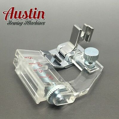 ADJUSTABLE Bias Binding Presser Foot Attachment - Screw-On Sewing Machine etc UK