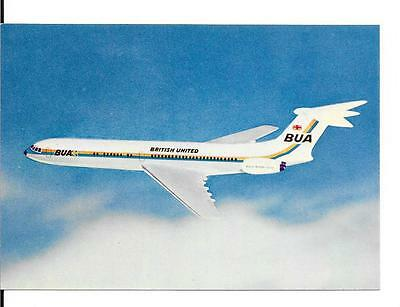 Airline issued postcard- BUA British United Airways VC10 aircraft