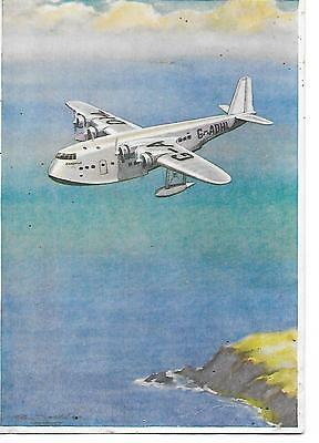 Airline postcard-Imperial Airways Shorts Empire Flying Boat-