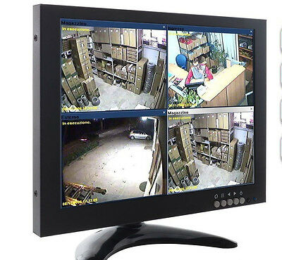 MONITOR 10 POLLICI 1080P COLORI LCD VGA HDMI BNC VIDEOSORVEGLIANZA video led new