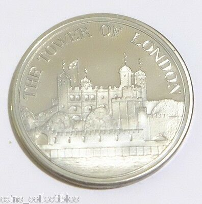 1984 The Tower of London Souvenir Nickel Silver Coin / Medal - Exclusive Edition