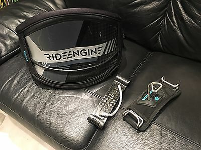 Ride Engine Elite Carbon kitesurfing harness Large Barely Used With Bar and Rope