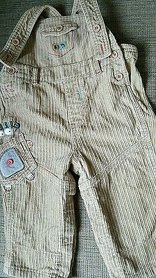 Boys cream beige cord dungarees 6-9 months