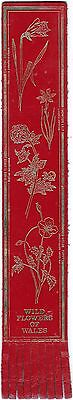 Leather Bookmark - Welsh Wild Flowers.