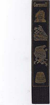 Leather Bookmark - Cornwall.