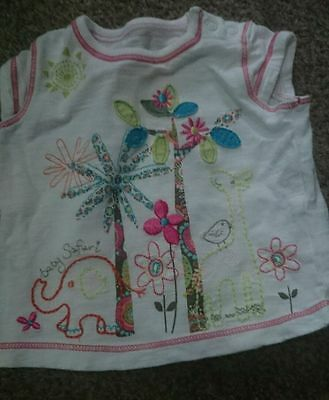 Gorgeous Baby Girls T-Shirt, 0-3 Months, Marks & Spencer