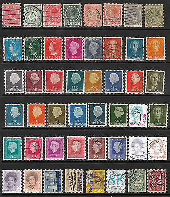 NETHERLANDS 48 stamps, all different