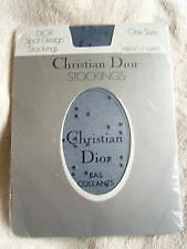 Christian Dior Sheer Navy Stockings Double Dash One size, shoe size 3 - 8