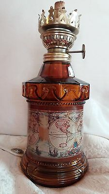 Vintage collectable glass paraffin oil lamp body