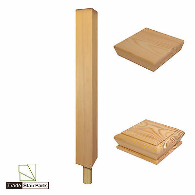 Stair Newel Peg Post - Plain - Solid Wood - Pine
