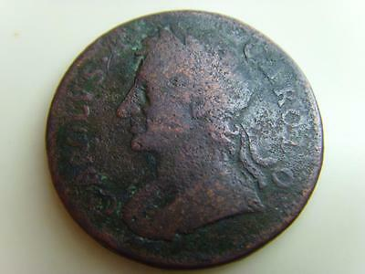 1675 Farthing King Charles Ii British Coin Great Britain