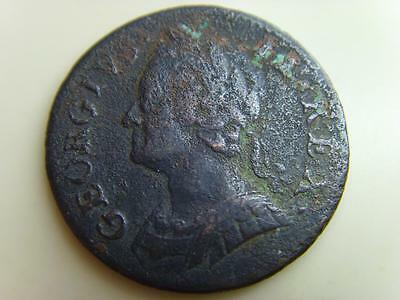 174?6? Farthing King George Ii British Coin Great Britain