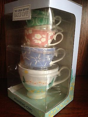 NEW The Great British Bake Off Measuring Cups Kitchen Baking Mothers Day Gift
