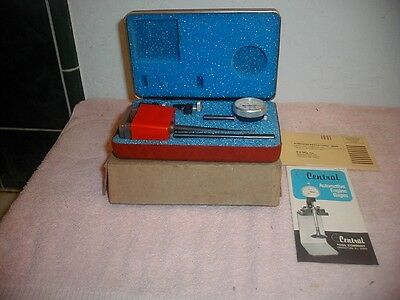 Vintage CENTRAL TOOL COMPANY UNIVERSAL DIAL TEST INDICATOR IN RED BOX