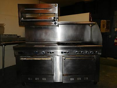 US Range Commercial Gas Stove (6-burner with double oven, broiler, & griddle)