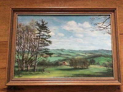 Oil Painting, Original, A Kentish Scene With Oasthouse