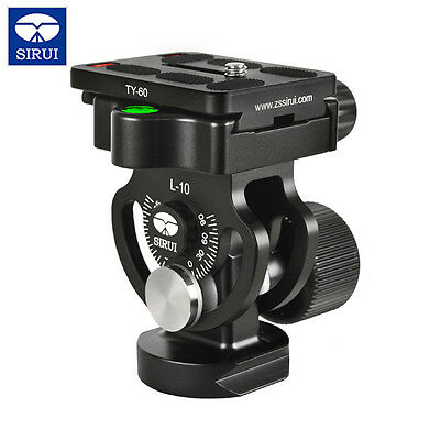 New SIRUI L-10 Aluminium Tilt Head With Quick Release Plate for Monopods UK