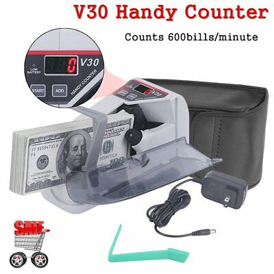 Portable Handy Mini Bill Cash Money Counter Paper Currency Counting Machine HS