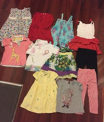 Girls Summer Bundle 11 Items Size 3-4 Dresses Polo Tops Leggings