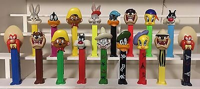 LOONEY TUNES LOT OF 17 DIFFERENT 1990's/2000's PEZ DISPENSERS!