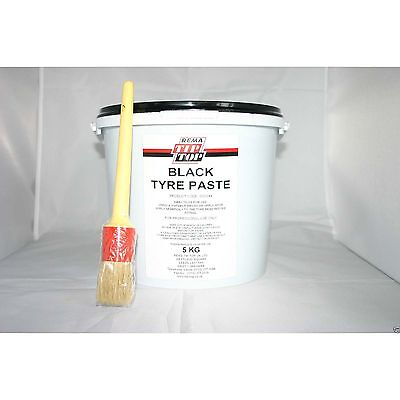 Rema Tip Top Black Tyre Paste 5Kg With Brush
