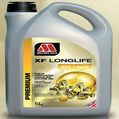 Millers oils XF Longlife C1 5W-30 Fully Synthetic Engine Oil 5 Litres