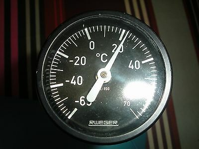THERMOMETRE RUEGER TEMPERATURE EXTERIEURE (avion  helico )