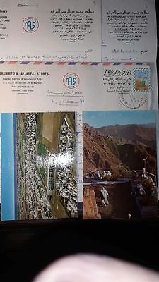 Saudi Arabia Cover With Letters & 2 Post Cards Dammam Cds