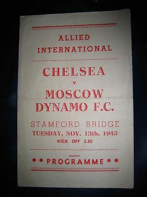 chelsea v moscow dynamo 13/11/1945 red  issue 4 pager