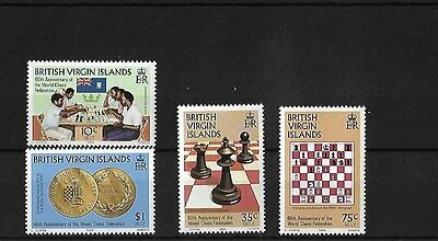 Br Virgin Is 1984 Chess Federation, Mnh, Sg522/5