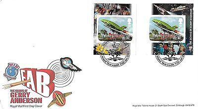 Gb 2011 Thunderbirds Retail Nvi Pair On Royal Mail Cover