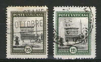 Vaticane - 2 Old Classic Stamps - Used