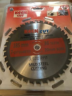 """Pack of 10, Keen #63368, 7.25"""" Mild Steel Cutting Saw TCT Blades"""