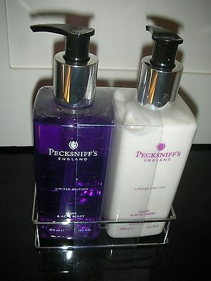 Pecksniffs London Limited Edition Plum & Acai Berry Set in caddy.