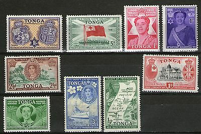 DMB Stamps - Tonga -  9 Stamps from old Collection to 1/-   -   MH